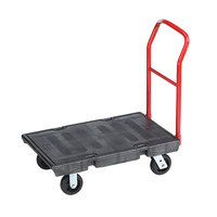 Rubbermaid 4403 Single Handle Heavy Duty Platform Truck - 36 inch x 24 inch (FG440300BLA)