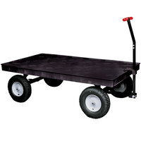 Rubbermaid 9T06 Heavy Duty 5th Wheel Wagon Platform Truck - 70 inch x 40 inch (FG9T0600BLA)
