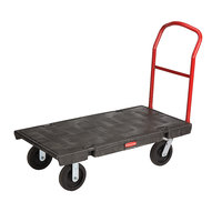 Rubbermaid 4441 Single Handle Heavy Duty Platform Truck - 48 inch x 24 inch (FG444100BLA)