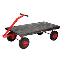 Rubbermaid 4479 5th Wheel Wagon Platform Truck - 60 inch x 30 inch (FG447900BLA)