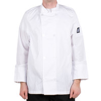 Chef Revival J049-L Cool Crew Size 46 (L) White Customizable Poly-Cotton Long Sleeve Chef Jacket