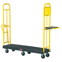 Rubbermaid 9T45 StockMate Restocking Truck (U-boat) with Hinging Deck - 63 inch x 18 inch (FG9T4500BLA)