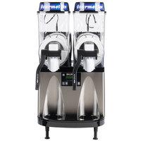 Bunn 34000.0099 Ultra-2 HP LAFI Black and Stainless Steel Double 3 Gallon Liquid Autofill Slushy / Granita Frozen Drink Machine - 120V