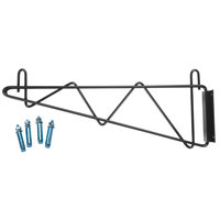 Regency 18 inch Deep Wall Mounting Bracket Set for Black Epoxy Wire Shelving - 2/Pack