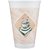 Dart Solo 16X16G 16 oz. Espresso Foam Cup - 25/Pack