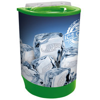 Lime Green Iceberg 500 60 Qt. Insulated Portable Beverage Cooler / Merchandiser with Lid, Drain, and Semicircular Design