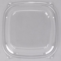 Dart Solo C2464BDL PresentaBowls Pro Clear Square Lid for 24, 32, 48, and 64 oz. Square Plastic Bowls - 63/Pack