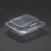 Dart Solo C26UT1 StayLock 7 inch x 6 inch x 2 1/8 inch Clear Hinged Plastic 7 inch Small Oblong Container - 125 / Pack