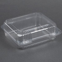 Dart Solo C51UT1 StayLock 8 1/4 inch x 7 3/4 inch x 3 inch Clear Hinged Plastic Medium Container - 125 / Pack