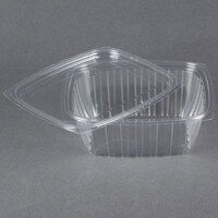 Dart Solo C32DCPR ClearPac 32 oz. Clear Rectangular Plastic Container with Lid - 63/Pack
