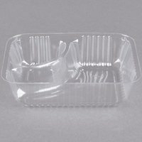 Dart C56NT2 ClearPac 2 Compartment Small Plastic Nacho Tray - 125/Pack