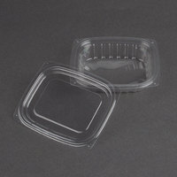 Dart Solo C8DCPR ClearPac 8 oz. Clear Rectangular Plastic Container with Lid - 63/Pack