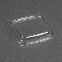 Dart Solo C816BDL PresentaBowls Pro Clear Square Lid for 8, 12, and 16 oz. Square Plastic Bowls - 63/Pack