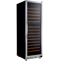 Eurodib MH168DZ Single Section Dual Temperature Full Glass Door Wine Refrigerator - 15 Shelves