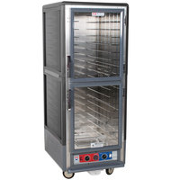 Metro C539-CLDC-4-GY C5 3 Series Low Wattage Heated Holding and Proofing Cabinet with Clear Dutch Doors - Gray