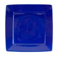 Tuxton BCH-1016 DuraTux 10 1/8 inch x 10 1/8 inch x 1 1/8 inch Cobalt Blue Square China Plate 12/Case
