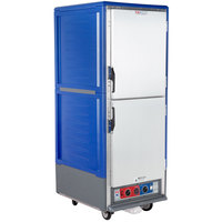 Metro C539-CLDS-4-BU C5 3 Series Insulated Low Wattage Full Size Heated Holding and Proofing Cabinet with Fixed Wire Slides and Solid Dutch Doors - Blue