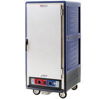 Metro C537-CLFS-L C5 3 Series Insulated Low Wattage 3/4 Size Heated Holding and Proofing Cabinet with Lip Load Aluminum Slides and Solid Door - Blue