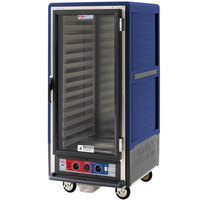 Metro C537-CLFC-L C5 3 Series Insulated Low Wattage 3/4 Size Heated Holding and Proofing Cabinet with Lip Load Aluminum Slides and Clear Door - Blue