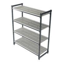 Cambro Camshelving Elements ESU186064V4580 Vented 4-Shelf Stationary Starter Unit - 18 inch x 60 inch x 64 inch