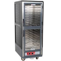 Metro C539-HLDC-4 C5 3 Series Insulated Low Wattage Full Size Hot Holding Cabinet with Fixed Wire Slides and Clear Dutch Doors - Gray