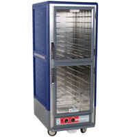 Metro C539-HLDC-L C5 3 Series Insulated Low Wattage Full Size Hot Holding Cabinet with Lip Load Aluminum Slides and Clear Dutch Doors - Blue