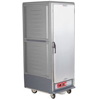Metro C539-HLFS-4 C5 3 Series Insulated Low Wattage Full Size Hot Holding Cabinet with Fixed Wire Slides and Solid Door - Gray