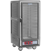 Metro C537-HLFC-U-GY C5 3 Series Insulated Low Wattage 3/4 Size Heated Holding Cabinet with Universal Wire Slides and Clear Door - Gray