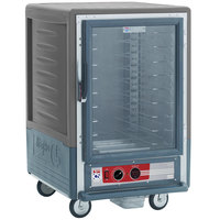 Metro C535-HLFC-U-GY C5 3 Series Insulated Low Wattage Half Size Heated Holding Cabinet with Universal Wire Slides and Clear Door - Gray
