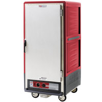 Metro C537-HLFS-L C5 3 Series Insulated Low Wattage 3/4 Size Heated Holding Cabinet with Lip Load Aluminum Slides and Solid Door - Red