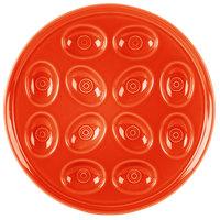 Homer Laughlin 724338 Fiesta Poppy 11 1/4 Egg Tray - 4/Case