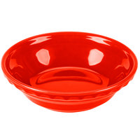 Homer Laughlin 417338 Fiesta Poppy 6 3/8 inch Small Pie Baker - 6/Case