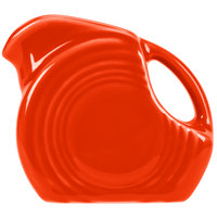 Homer Laughlin 475338 Fiesta Poppy 4.75 oz. Mini Disc Creamer Pitcher - 4/Case