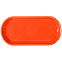 Homer Laughlin 412338 Fiesta Poppy 12 inch x 5 11/16 inch Bread Tray - 6/Case