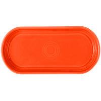 Homer Laughlin 412338 Fiesta Poppy 12 inch x 5 11/16 inch Bread Tray - 6 / Case