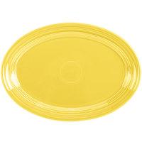 Homer Laughlin 456320 Fiesta Sunflower 9 5/8 inch Small Oval Platter   - 12/Case