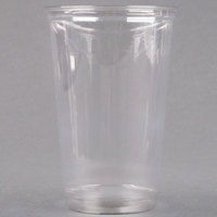 Dart Solo UltraClear TN20 20 oz. Clear Straight Wall PET Plastic Cold Cup - 1000/Case
