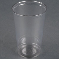 Dart Solo UltraClear TN20 20 oz. Clear Straight Wall PET Plastic Cold Cup - 1000 / Case