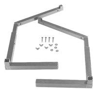 Carlisle 994823 Aluminum Replacement Adjustable Single-Sided Sneeze Guard Leg - 1 Pair / Pack