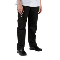 Chef Revival LP002BK Size L Black Ladies Cargo Chef Pants - Poly-Cotton