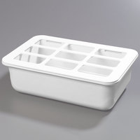 Carlisle CM104902 Coldmaster Full Size White Cold Food Pan Holder with Organizer - 6 inch Deep