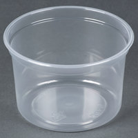 Dart Solo MicroGourmet MN16-0100 16 oz. Contact Clear Polypropylene Deli Container - 500 / Case