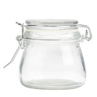 American Metalcraft HMMJ5 5 oz. Glass Miniature Hinged Apothecary Jar - 12/Case