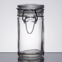 American Metalcraft HMMJ2 2.5 oz. Glass Miniature Hinged Apothecary Jar