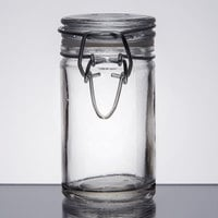 American Metalcraft HMMJ2 2.5 oz. Glass Miniature Hinged Apothecary Jar - 12 / Case