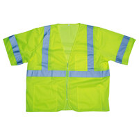 Lime Class 3 High Visibility Safety Vest - Large