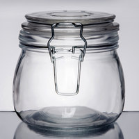 American Metalcraft HMJ4 16 oz. Glass Hinged Apothecary Jar - 12 / Case