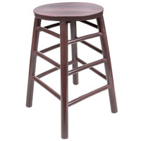 Lancaster Table & Seating 24 inch Metal Woodgrain Barstool with Wine Color Finish