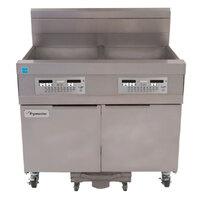 Frymaster 11814 63 lb. High Production Gas Floor Fryer with Digital Controls - 119,000 BTU