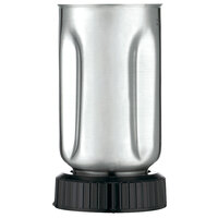 Waring 501460 32 oz. Stainless Steel Blender Jar with Black Jar Bottom Assembly for Blenders